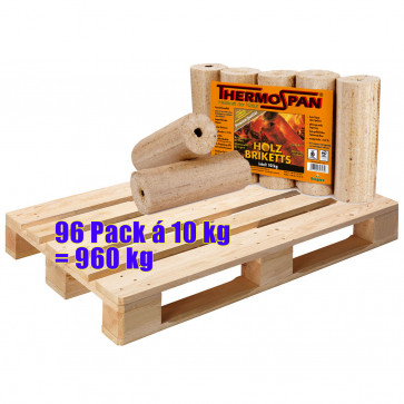 Holzbriketts Thermospan 96 Pack á 10 kg = 960 kg